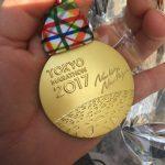 東京マラソンの完走メダル
